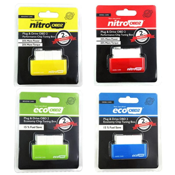 Car Nitro OBD2 Performance Tuning Chip Box For Gas//Petrol Vehicles Plug /& Drive