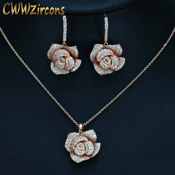 2019 Cwwzircons Geometric Flower Design Cubic Zircon Fashion Brand
