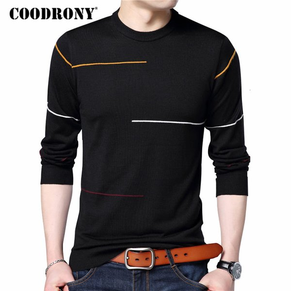 COODRONY Cashmere Wool Sweater Men Brand Clothing 2019 Autumn Winter New Arrival Slim Warm Sweaters O-Neck Pullover Men Top 7137 SH190914