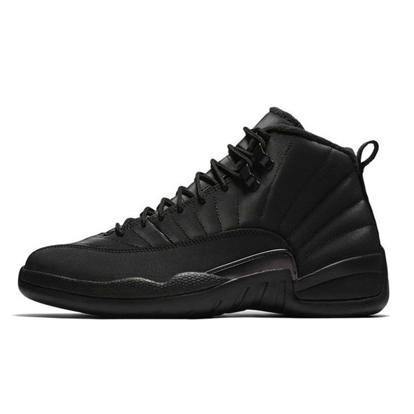 Mens 12s basketball shoes Winterized WNTR Gym Red Michigan Bordeaux 12 white black The Master Flu Game taxi sports sneakers trainers 7-13