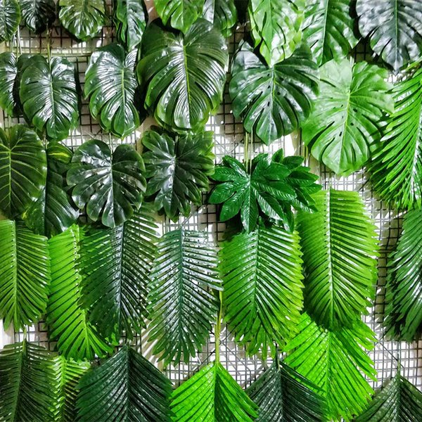 artificial turtle back leaf palm leaf plant artificial flower greenery grass leaves plants