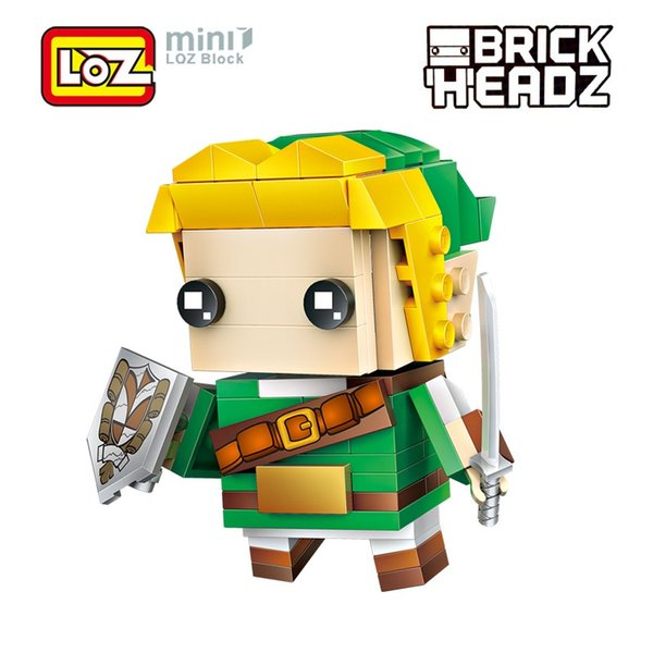 LOZ Link The Legend of Zelda Game Brick Head Action Figure Toy Mini Building Blocks 154pc For Children Ages 6+Offical Authorized