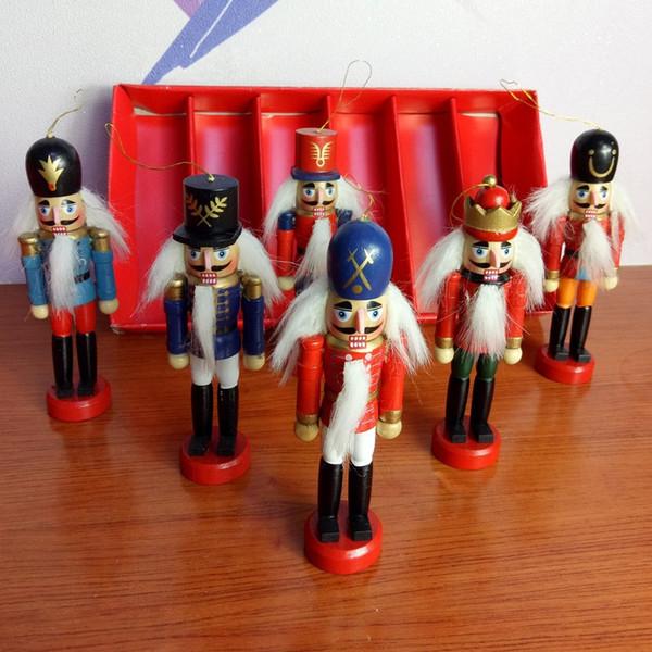 Walnut Man Holzfarbe Zwölf Zentimeter Box so tun, als ob Nussknacker Farbe zeichnen Weihnachten Anhänger Originalität Juglans Soldat Manufact3 3jz p1