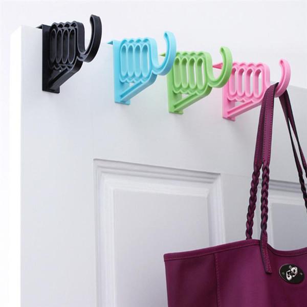 Over The Door Garment Hanger Hook Multifunctional Wall Hanging Hook Door Back Coat Key Towel BagCoat Key Towel Bag Hooks