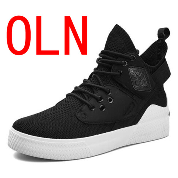 OLN New Roman Quality Lycra Men Boots Lace Up Male Rubber Sole Shoes Ankle Botas Cowboy Motorcycle Boots Men Shoes Sneakers