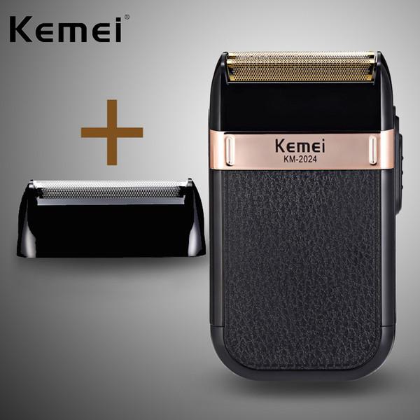 KEMEI Nouvelle machine à raser Recharge USB à double maille va-et-vient couteau à maille lavable rasoir km-2024 5