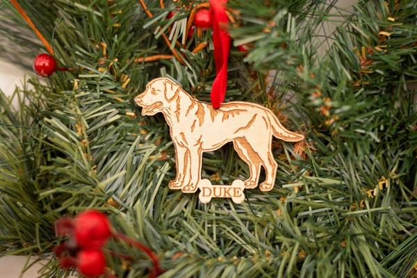 Labrador Retriever Ornement - Lab - Personnalisé chien ornement chien Race de Noël cadeau commémoratif pour animaux de compagnie pour amoureux