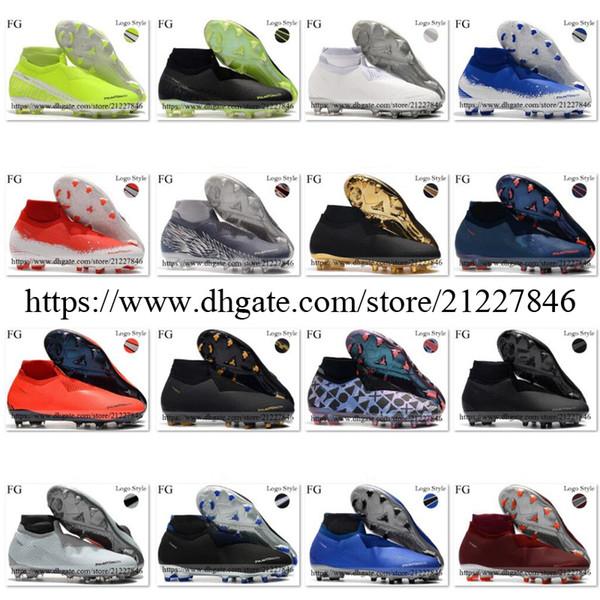 Fantom VSN Vision Elite DF FG Futbol Ayakkabı Tamamen Zafer Paketi Yeni Işıklar EA Sports'un Yüksek Bilek Çorap Futbol Boots Kramponlar ABD 6,5-12 Ücretli