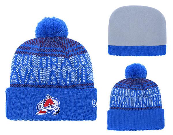New Arrival Fashion Fans Baseball Beanies Winter Pom Casual Warm Skullies Beanie Hats Sport Team Ice Hockey Arizona Coyotes Cuffed Knit Caps