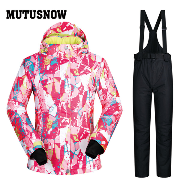 MUTUSNOW Snow Jackets Women Brands PT Outdoor Snow Pants Sets Breathable Windproof Waterproof Therma Winter Skiing And Snowboarding Suits