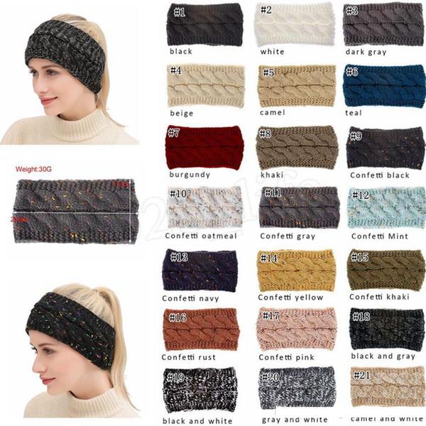 Crochet Bandeau Laine Crochet Bandeau Tricoter Bandes Hiver Bandeaux chauds Filles Headwrap Ear Muffs 100pcs