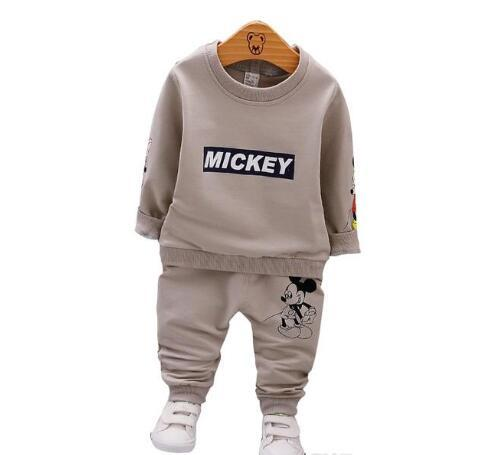 Printemps Automne Bébé Garçons Vêtements Pleine Manches T-shirt Et Pantalon 2pcs Coton Costumes Enfants Vêtements Ensembles Toddler Marque Survêtements