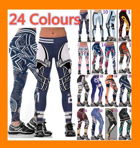 top popular wholesale Womens Legging printed Slim Workout Leggings tights yoga pants high waist Stretch Elastic Jogging Gym Tights wide belt fitness 2020