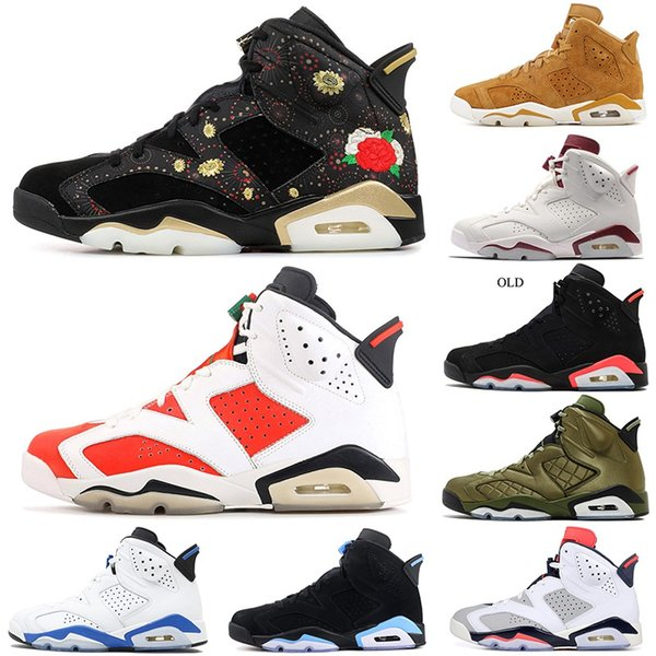 new designer basketball shoes golden harvest all star black cat carmine unc 6 6s gatorade bred oreo mens athletic sports blue sneakers 7-12