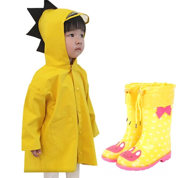 Dinosaur Giallo Fleece Coniglio Raincoat +