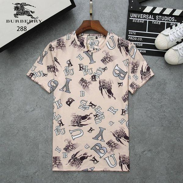 T-shirt dos homens verão novo simples respirável de alta qualidade T-shirt letra selvagem impressão T-shirt roupas masculinas