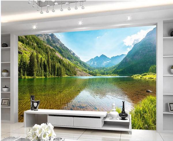 3d name wallpaper See Wasser schöne 3d moderne europäische neue chinesische Hintergrundwand