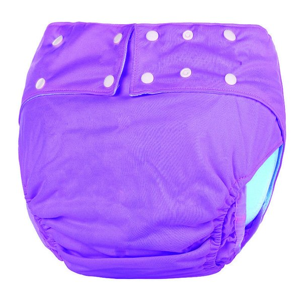 OEM&ODM Purple Waterproof Reusable Adult Machine Washable adult Diapers Disabled Adult Cloth Diaper For Men and Women