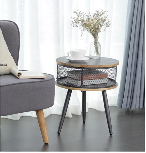 Tremendous 2019 Round Table With Gray Storage Beside Sofa In Living Room Of American Country Solid Wood Small Family Tea Table Office From Meow Householdes Squirreltailoven Fun Painted Chair Ideas Images Squirreltailovenorg