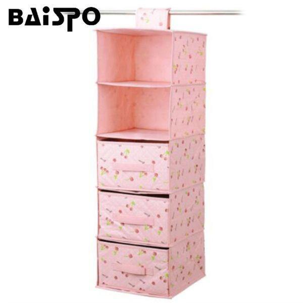 Hanging Clothing Storage Box Orangizer Drawer Underwear Shoes Storage Box Wardrobe Bag Door Wall Closet Toys Home Holder