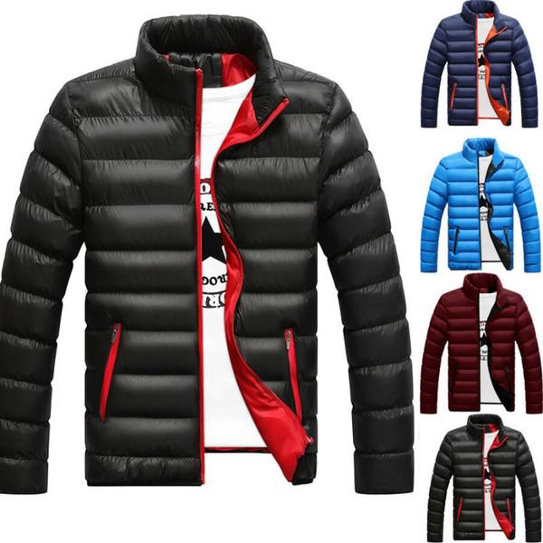 Les hommes d'hiver manteau chaud stand lumière Col d'extérieur Veste Casual Pardessus