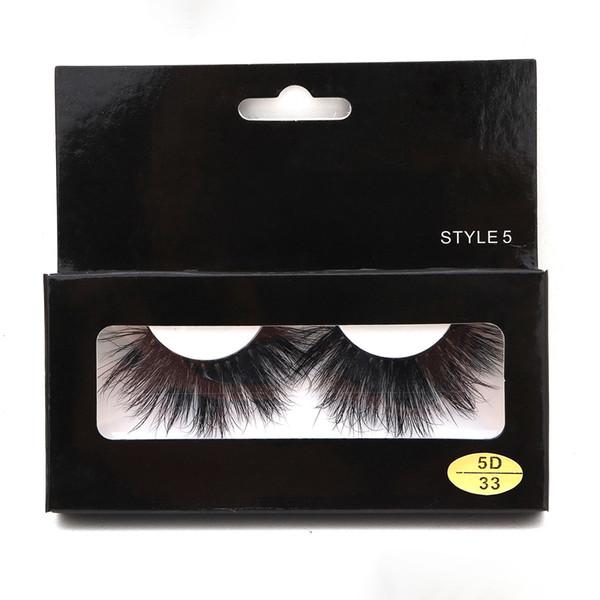 2019 New 5D Mink Eyelashes super thick Natural long False Lashes Full hand made Free shipping