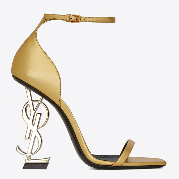 2019 Brand new Sexy shoes Woman Summer Buckle Strap Rivet Sandals High-heeled shoes Pointed toe Fashion fashion Single Prom Party High heel