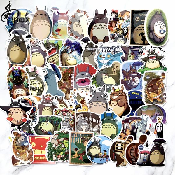 50pcs Totoro chinchilla Doodle Cartoon Skateboard Suitcases Guitar Car Bike Laptop Vinyl Stickers PVC Waterproof sticker decal