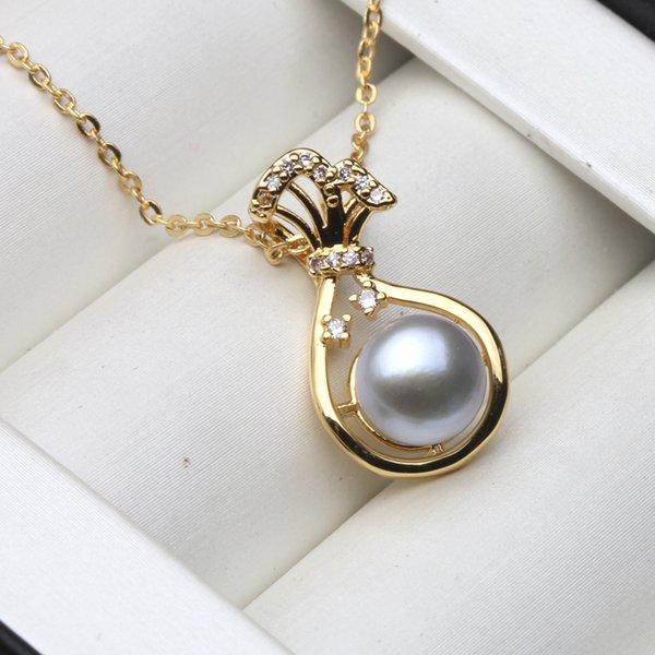 grey pearl pendant