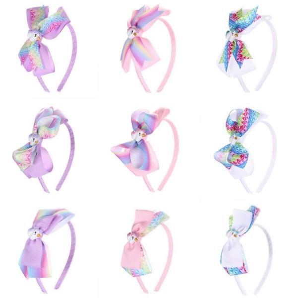 New Kids Unicorn Headband Girl Bows Baby Unicorn Headbands Headbands Unicorn Accessories Party Supplies 50 p
