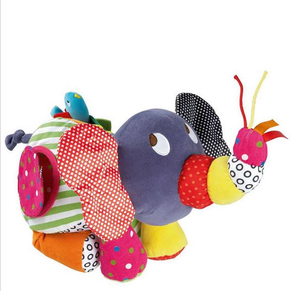 Bebek Etkinlik Oyuncaklar Bebek Büyük Fil Arabası Çıngıraklar Cep Bebek Bebekler Için Brinquedos Eğitim Peluş Oyuncaklar