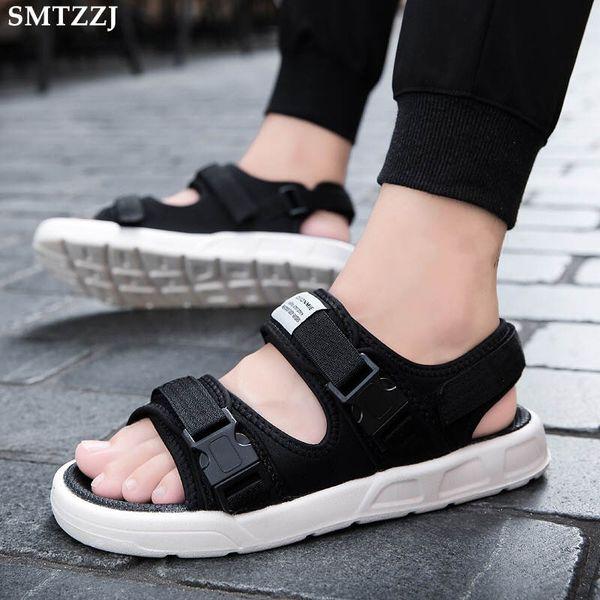 SMTZZJ 2019 Açık Moda Erkekler Sandalet Yaz Mesh-kumaş Adam Ayakkabı Rahat Nefes Plaj Tuval Sandalet Sapatos Masculinos