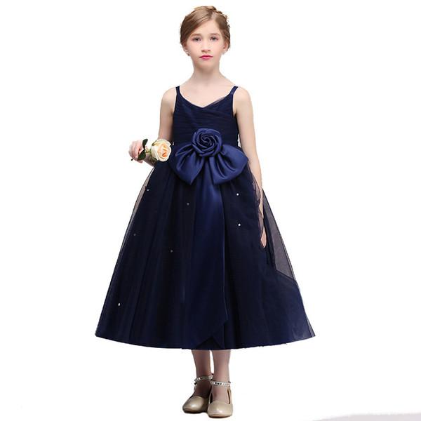Kız Mükemmel İlkbahar Sonbahar Çocuk Gelinlik Çiçek Kız Elbise İçin Parti Elbise Yaz Çocuk Giyim Prenses Giydirme