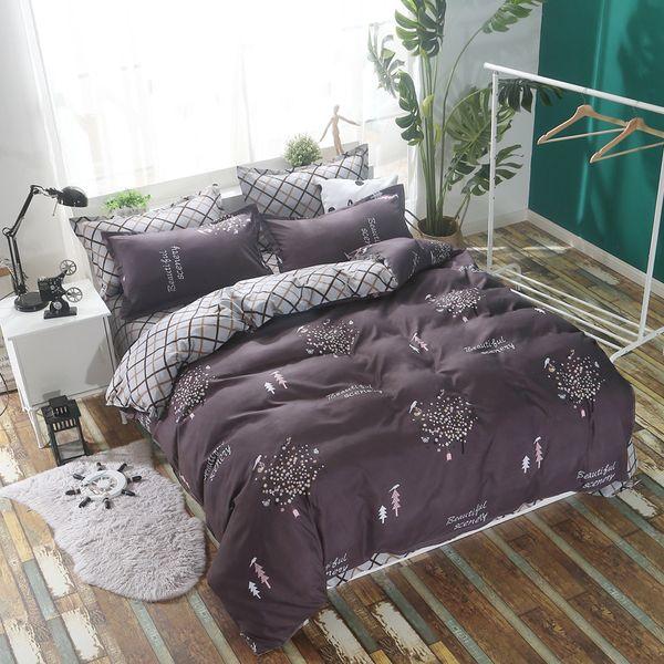 Neue Kreative Quilt Tröster Bettbezug Bettwäsche Set Erwachsene Paar Große Größe Weiche Bettwäsche Königin König Tagesdecken 24