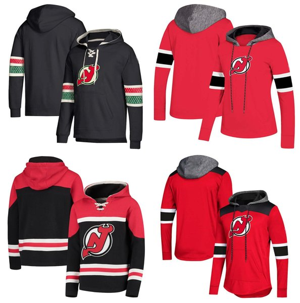 New Jersey Devils Hockey Pullover Hooded Sweatshirt