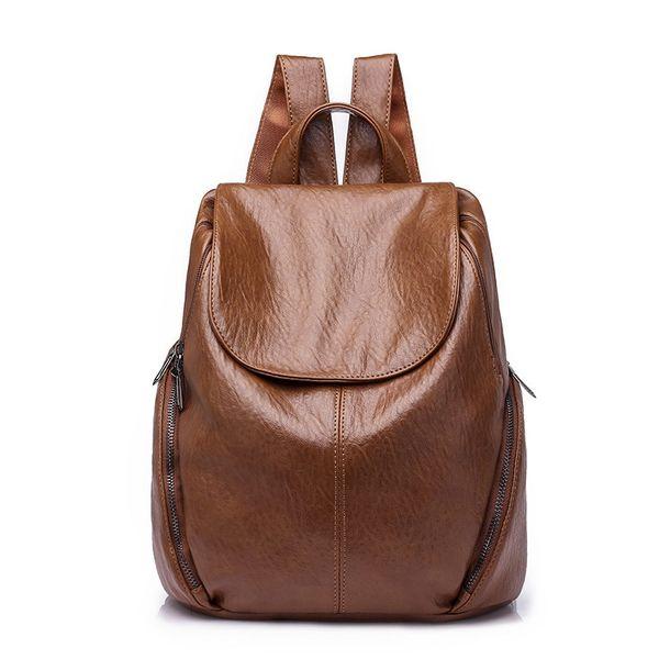 2018 Женщины рюкзак женский досуг рюкзак Pu кожа Mochila Эсколар старинные сумки для женщин женские рюкзаки мода Daypack MX190708