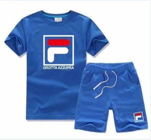 marque T-shirt et pantalon enfants costume en coton bébé fille costume d'été bébé sport costume 2 pièces / ensemble
