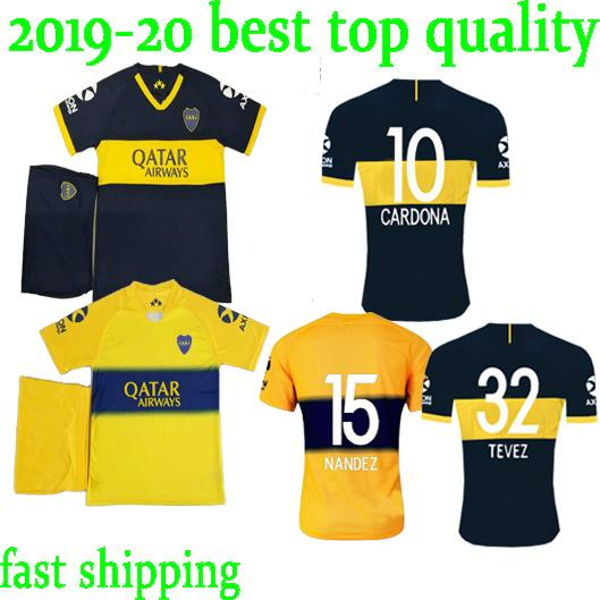 toq quality 2019 футбольные комплекты Boca Juniors BENEDETTO TEVEZ CARDONA ABILA PAVON 19/20 Boca Football Jersey Kits для взрослых