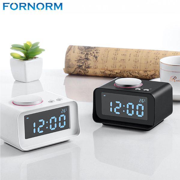 Fornorm Multi-fuctional AM / FM Radio with Dual Alarm Clock AUX Function USB Port Charger Audio Player Radio Portable EU US Plug