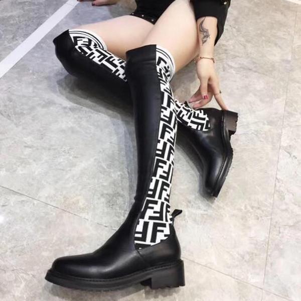 Diz çizme 2020 yeni süper starların üzerinde Moda lüks bayan ayakkabı orijinal kutusu ile uyluk yüksek çorap çizmeler yüksek kalite womens