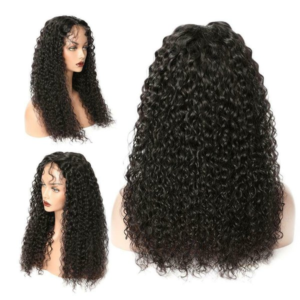Long Spiral Curls Ombre Black Mix Lace Front Full Wig Heat Ok Hair Piece Fashion