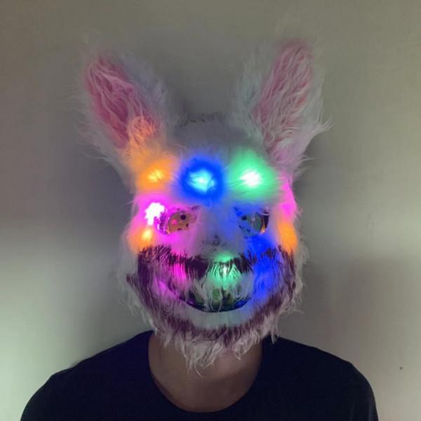 Yeni Cadılar Bayramı Peluş Cosplay İçin Çocuk Ve Yetişkin Kanlı Katil Korku maskeler LED Maskesi