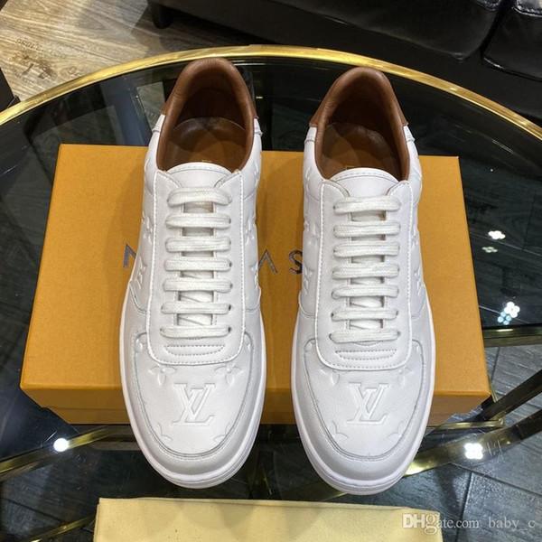 New Mode Masculine de luxe chaussures de sport haut hommes en cuir lacée espadrilles qualit des hommes respirant voyagent chaussures de sport grande taille Livraison gratuite 030