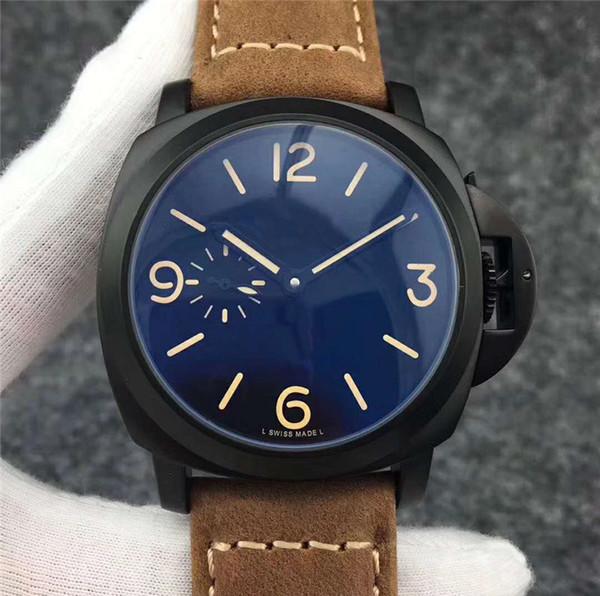 2019 homens mecânicos automáticos relógio de moda marrom mens de couro relógios de negócios militares preto relógio esportivo À Prova D 'Água Reloj de hombre