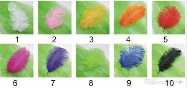 Piume di struzzo nero 20-25 cm 20-25 cm per la decorazione di matrimoni all'ingrosso