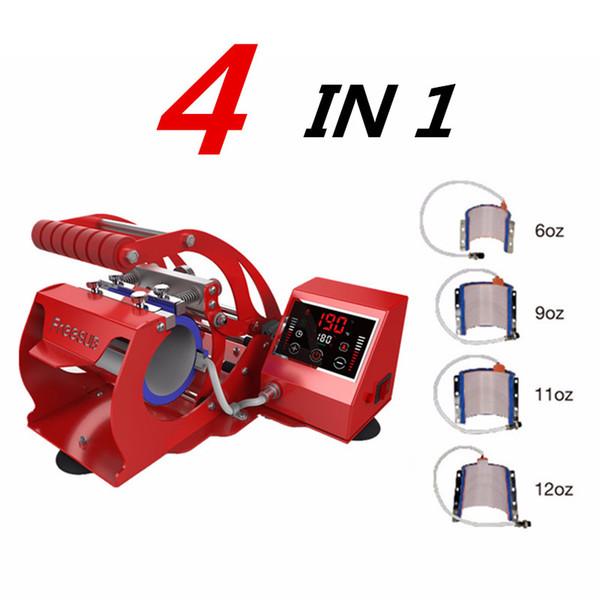 ST-430 4 en 1 prensa de la taza de la sublimación Máquina de café de 6 oz / 9 oz / 11 oz / 12 oz de impresión CUPS