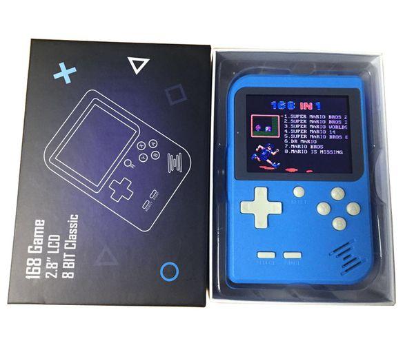 Yeni Mini El Oyun Konsolu Retro Oyun Konsolu 2.8 Inç Ekran 168 Klasik Cep Oyun Oyuncu TV Çıkışı Taşınabilir Video Oyun Konsolu