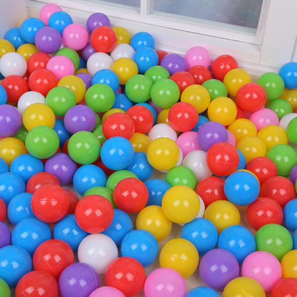best selling 5.5CM 7CM 8CM Mixed Colors Ball Pits Colorful Ocean Balls Baby Bath Toys Kids Bathtub Floating Balls