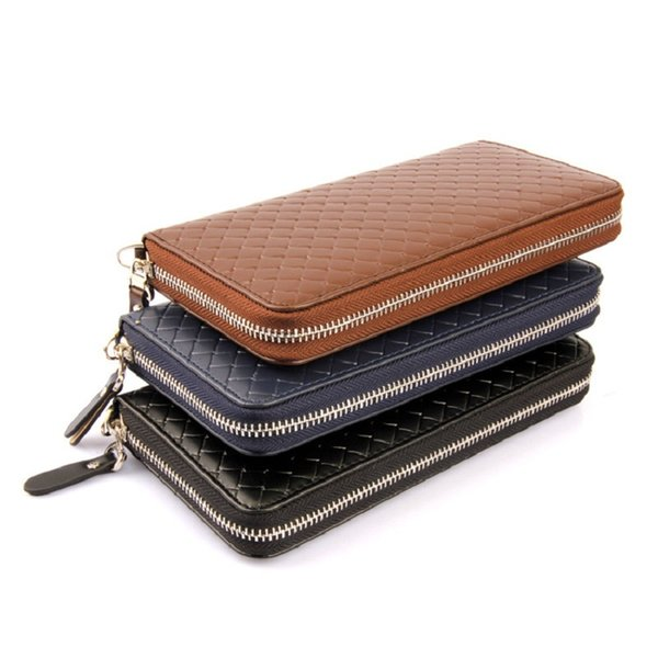 Women's Wallet High-grade Woven Pattern Ladies Clutch Single zip Korean Casual Leather Bag NQ-027