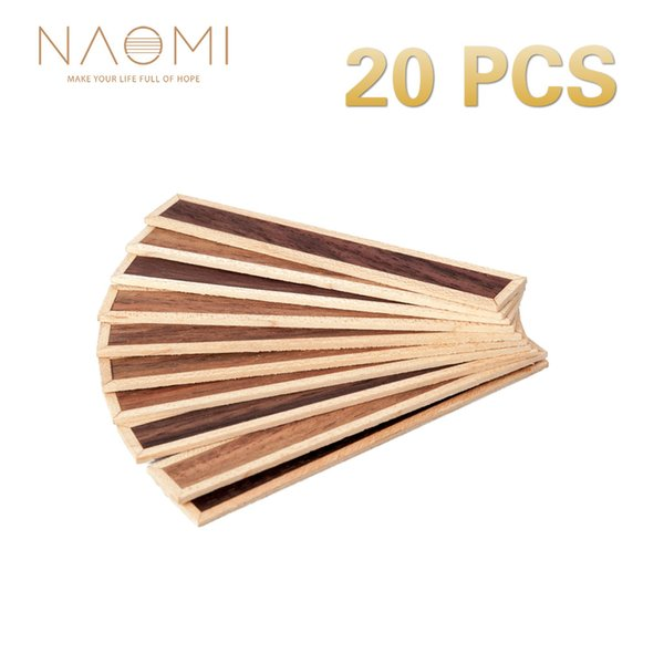 NAOMI 20 Pcs Classical Guitar Bridge Tie Blocks Inlay Rosewood Wood Frame Series Guitar Parts Accessories New NA-03